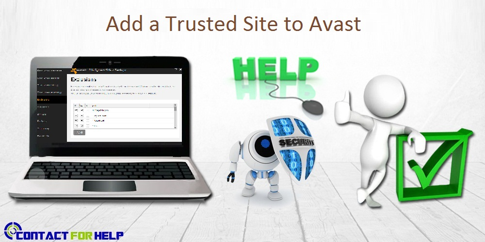 Add a Trusted Site to Avast
