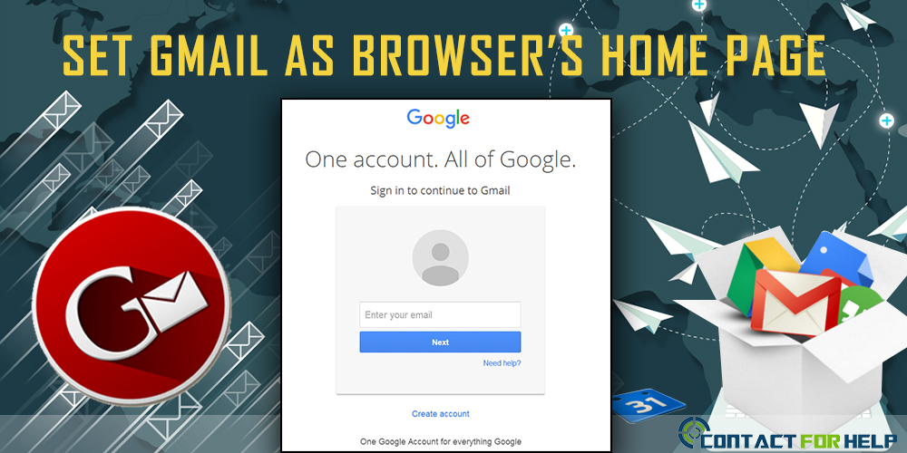 Make Gmail as Homepage in Different Browsers