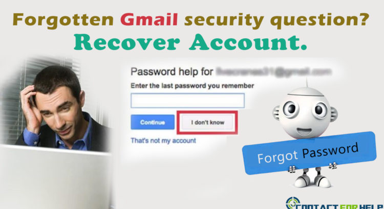 Forgot Gmail security question