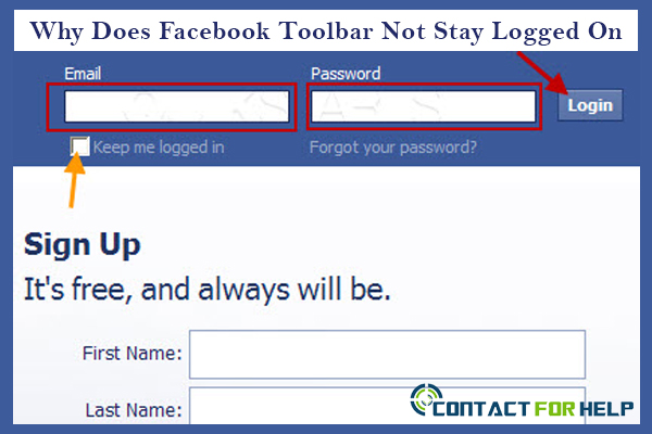 Facebook Toolbar Does Not Stay Logged On