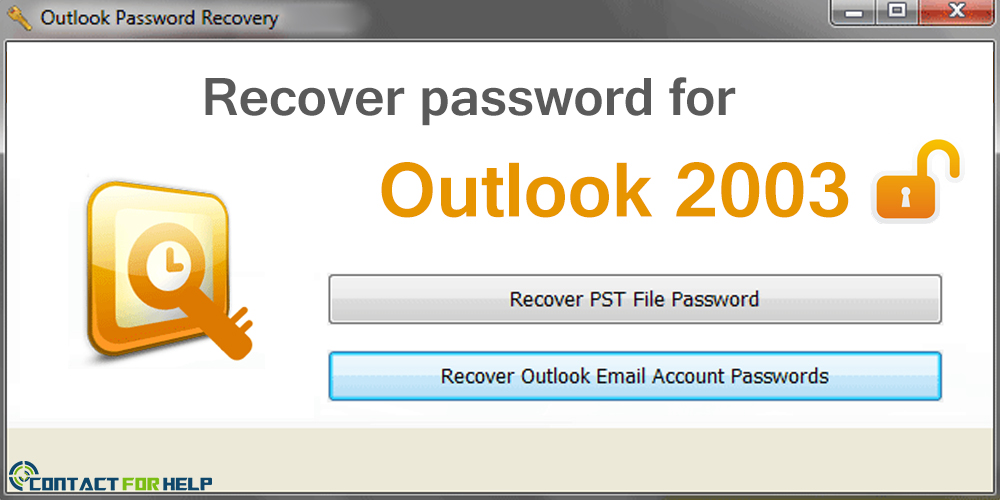 recover outlook 2003 email password