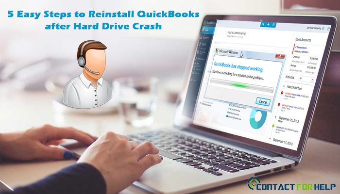 reinstall quickbooks hard drive crash