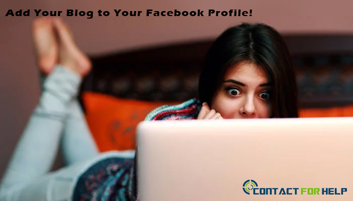 Add Blog Facebook Profile