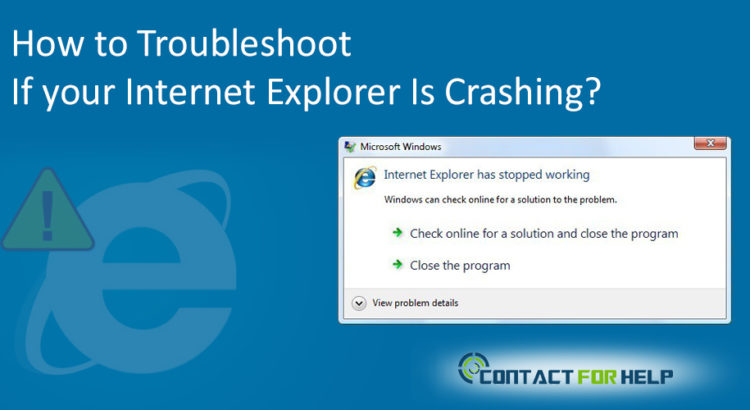 troubleshoot internet explorer crashing