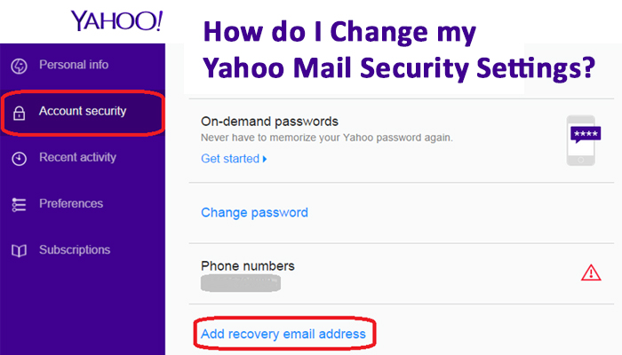 How do I Change my Yahoo Mail Security Settings-
